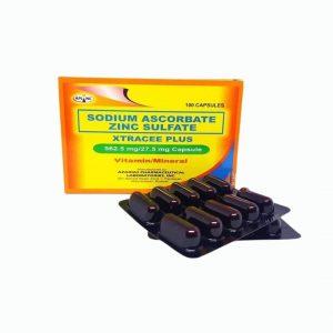 Xtracee Plus 562.54 MG Sodium Ascorbate + Zinc Sulfate flap