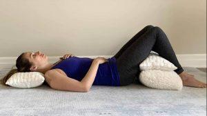 Back diaphragmatic breathing