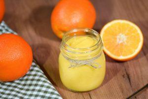 Curd with orange