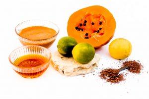 Papaya with honey