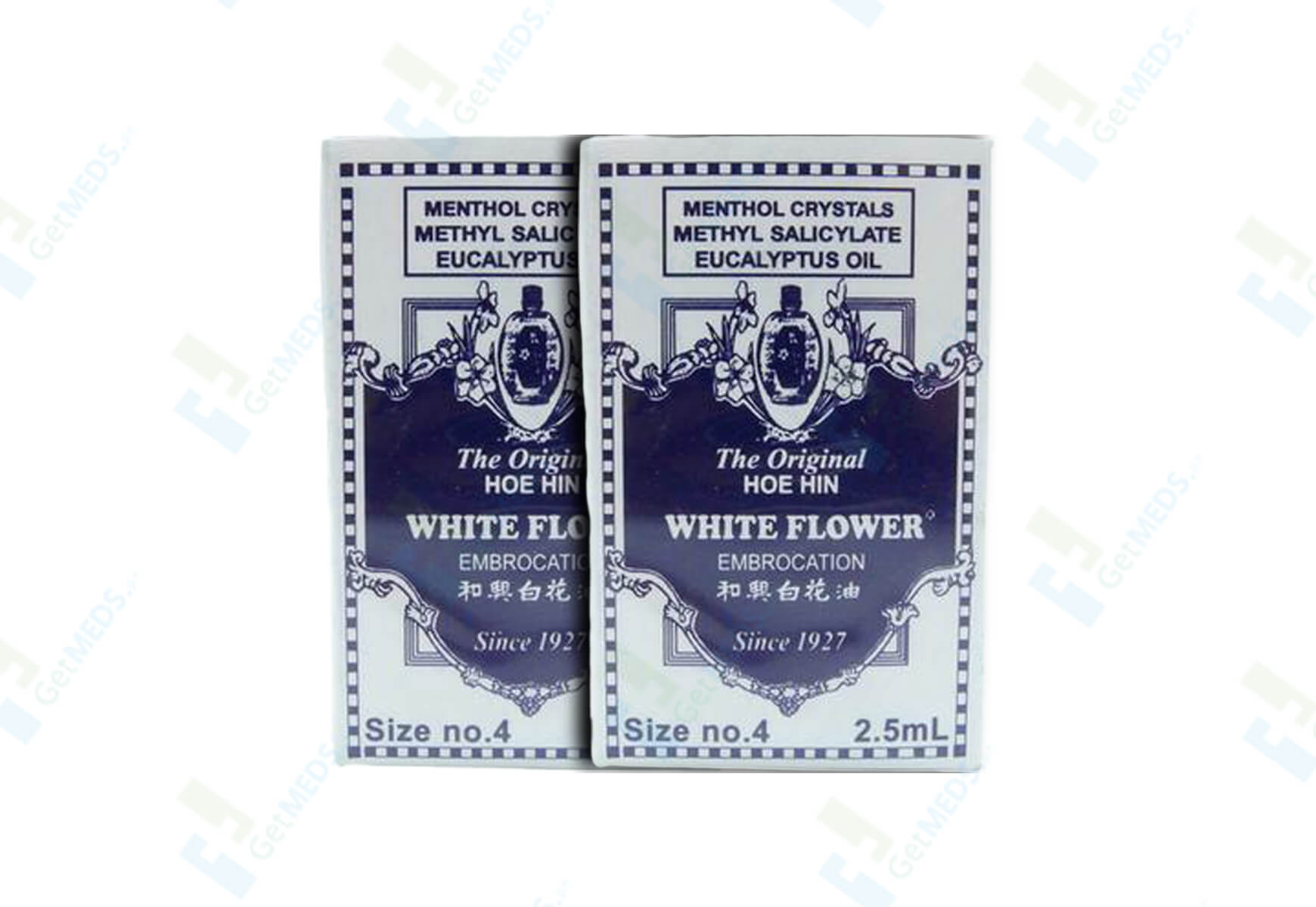 White Flower #4 Twin Pack